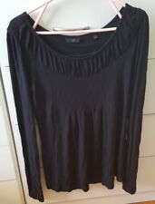 CUE Black Soft Long Sleeve Top Size M