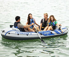 New Intex Inflatable Excursion 4 Person 3.15x1.65m Fishing Boat Raft Set #68324