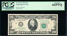 AC 1981 $20 San Francisco FRN PCGS 66 PPQ L-D block Fr 2073-L