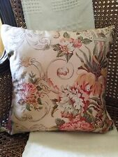 "Ralph Lauren Guinevere Medieval Throw Pillow Goose Feather 17""x17"" Made in USA"