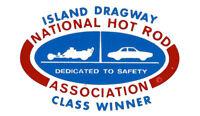 ISLAND DRAGWAY NHRA CLASS WINNER DRAG RACE HOT ROD DECAL VINTAGE LOOK STICKER