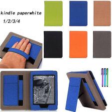 Para Amazon Kindle Paperwhite 123 & 4 10 gen funda cubierta inteligente Soporte de la manija de cuero