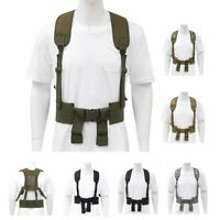 Adjustable H-Harness Tactical Hunting Waist Battle Belt Suspenders Molle Vest