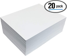 White Eva Foam Sheets, 20 Pack, 6mm Extra Thick, 9 x 12 Inch, by Better Office P