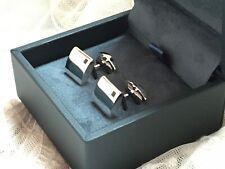 BNIB Fred Bennett 925 Silver Cufflinks Square Quartz Sterling Silver Cufflinks