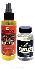 Walker Tape C-22 Solvent Remover 4 oz + Ultra Hold Large Adhesive 3.4 Oz/101 ml