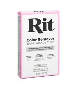 2 Pk Rit Laundry Treatment Color Remover 2 oz NEW Removes Lightens Fabric Color