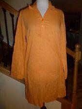 Newport News 100% Cotton Swim Cover-Up Tunic Shirt sz S