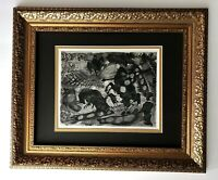 PABLO PICASSO + 1961 SIGNED TOREROS PRINT MATTED 11 X 14 + LIST $595