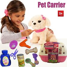 KIDS MY FIRST PET PUPPY GROOMING CARRIER ACCESSORIES PLAY TOY SET XMAS GIFT NEW
