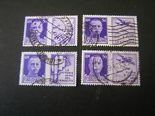 ITALY, SCOTT # 435-438(4),TOTAL 4 1942 IN HONOR OF ITALIAN ARMY ISSUE USED