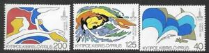 CYPRUS SG542/4 1980 OLYMPIC GAMES MNH
