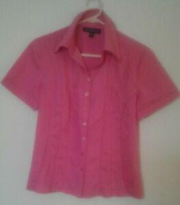 "Women's Blouse ""The Clothing Company"" size 10, cott/poly/spand., fushia pink."