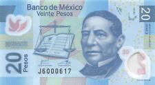 Mexico 20 Pesos, 2013 P.122 Polymer  Banknote Uncirculated Unc