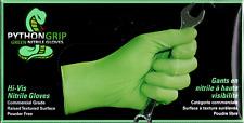 PythonGrip Hi-Vis Green Nitrile Size XL  90 Count Box