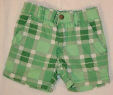 Karierte Baby-Shorts für Mädchen aus 100% Baumwolle