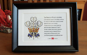 Prince of Wales feathers - Framed