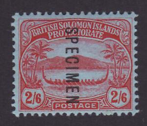 British Solomon Islands. 1910. SG 16s, 2/6 red/blue, specimen. Mounted mint.