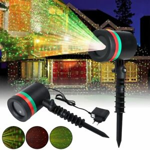 Christmas LED Moving Laser Projector Light Xmas Party Outdoor Landscape Lamp K%