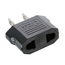 New Black EU Euro To US Universal Travel Power Adapter Converter Socket Outlet
