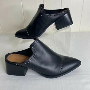 New Universal Thread Black Mules Ankle Bootie Shoes Womens 8 Heels w Studs