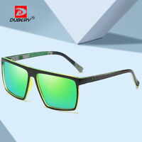 DUBERY Men Polarized Sport Sunglasses Outdoor Driving Fishing Square Glasses