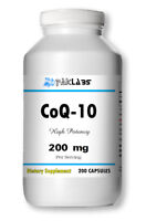 CoQ-10 200mg 200 Capsules Coq10 Co Q10 Coenzyme Anti Aging Cardio Heart =SALE=