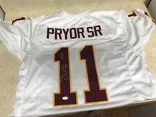Terrelle Pryor Signed Auto Redskins Jersey w/Inscription JSA Witness