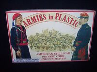 Armies in Plastic # 5435 Union 9th NY Zouave Infantry (Blue) 1/32  mint in box