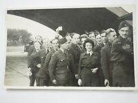 """WWII Group of Canadian Army Soldiers Coming Home 3.5 X 5"""""""