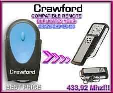 CRAWFORD TX - 433, 433,92MHz,Compatible Remote control Replacement, clone