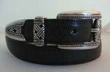 Brighton New Gray Reptile Style Leather Belt Size S  Made in USA 38921