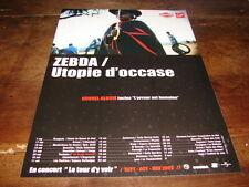 ZEBDA - PUBLICITE UTOPIE D'OCCASE - LE TOUR D'Y VOIR !!
