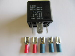 Automotive Relay, Operating Current, Changer, Closer, 12V 50A Set 2 With 5 Pegs