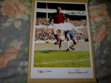 BOBBY MOORE / JIMMY GREAVES ACTION PRINT-WEST HAM/SPURS