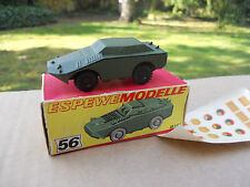 VEHICULE MILITAIRE HO ESPEWEMODELLE METAL ENGIN BLINDE BTR 40  MINT IN BOX