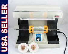 Dental Lab Jewelry Desk Polisher Buffer Vacuum + Case Cover 220v DENTQ