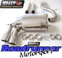 Audi RS3 8P Milltek Exhaust Cat Back Non Res & Secondary Cat ByPass De Cat Pipes