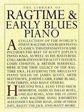 The Library of Ragtime and Early Blues Piano Sheet Music Book NEW 014019055
