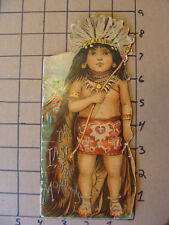 ORIGINAL - McLoughlin Bros LAST OF THE MOHICANS die cut book - kid colored