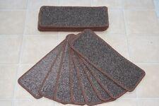 14 Carpet Stair case Treads Fairway brown Stain Free Large Carpet Stair Pads