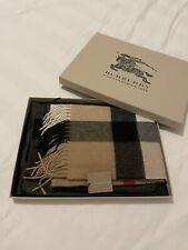 Burberry Half Mega Check Cashmere Scarf 36x200cm RRP £450