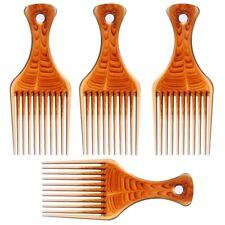 4 Pcs Afro Pick Pik Comb African American Hair Brush Plastic Hair Coloring  G1H2