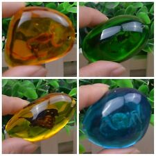 Natural Amber Resin Pendant Ornament Specimen Fossil Scorpion Insects Pendant
