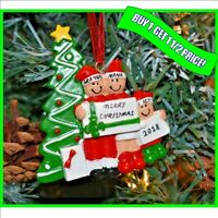 Personalised Christmas / XMAS Tree Decoration Gift Bauble Ornament, 3 Family
