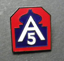 FIFTH 5th ARMY NORTH US MILITARY LAPEL PIN BADGE 1 INCH WWII