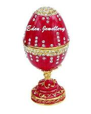 Gorgeous TAYLOR AVEDON Keepsake Trinket Egg Crystal Jewellery MUSIC Box MB1013