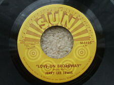 Jerry Lee Lewis - Love On Broadway / Matchbox Usa 45  Sun SI 1125 + Jukebox slip