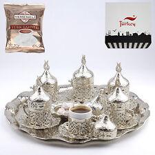 27 Pc Ottoman Turkish Greek Arabic Coffee Espresso Serving Cup Saucer (Silver)