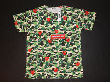 New CDG Comme des Garcons Play Bape Camo T-Shirt Tee Supreme Size XL Fits Like L